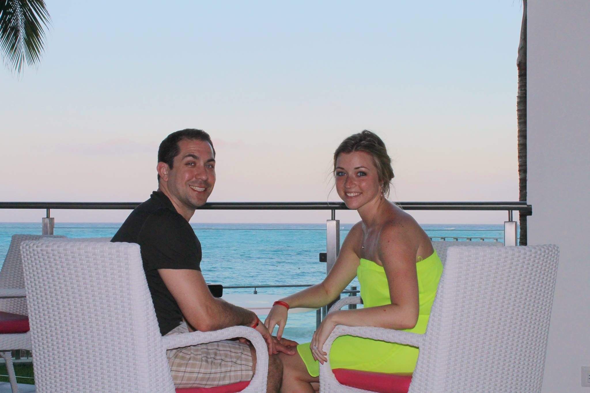Honeymoon bliss, grateful for our life experiences that brought us together.