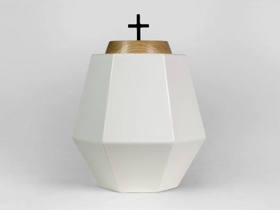 Nawia Aspre - white urn for ashes