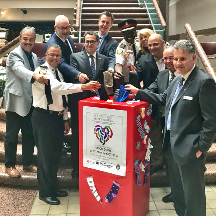 Pictured above includes: Toronto Police Chief Mark Saunders, Jim Hart, Robert Johnson, Mike McCormack, Goody Gibson, Reuben Stroble, Lauro Monteiro, and our own Rob Stanley.