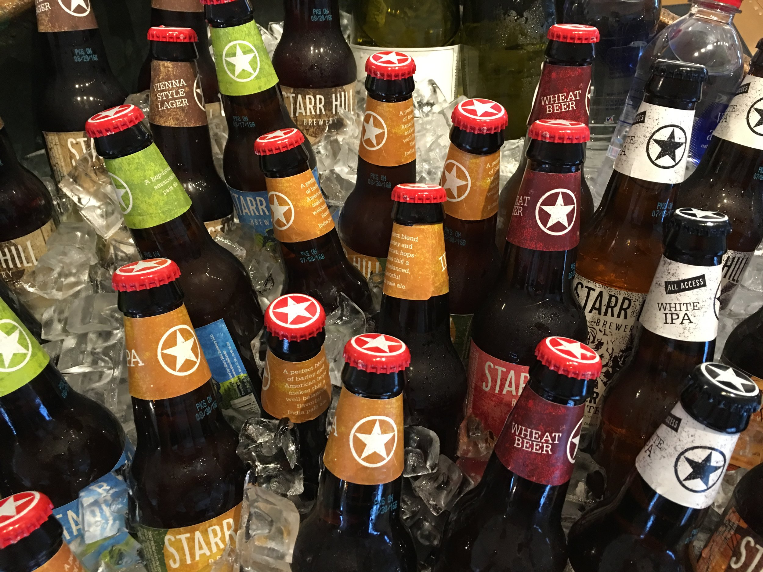 Grateful, Last Leaf, Northern Lights or The Love...Sample our Selection and Find Your Favorite Starr Hill Craft Beer.