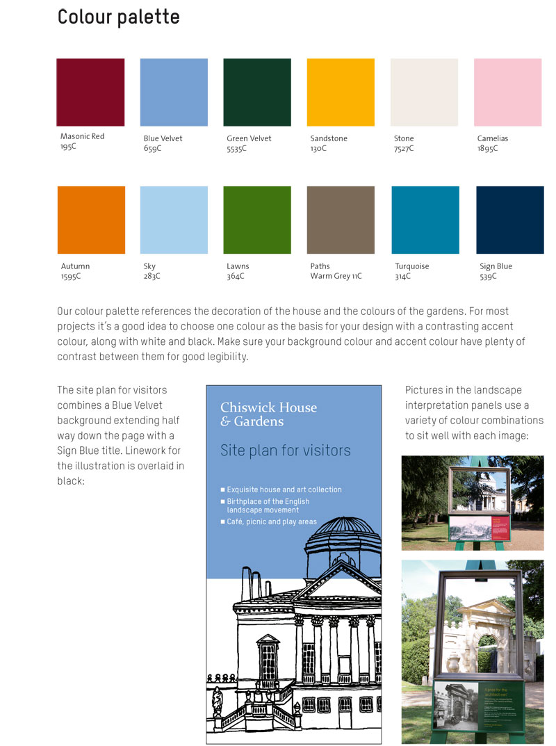 Style guide for the Chiswick Park visual identity
