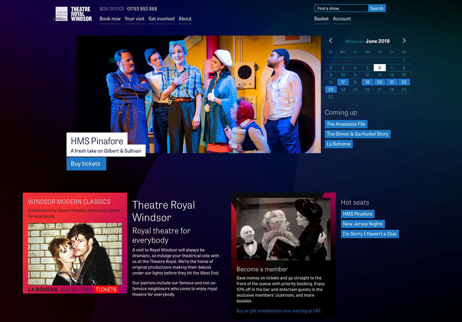 Theatre Royal Windsor home page