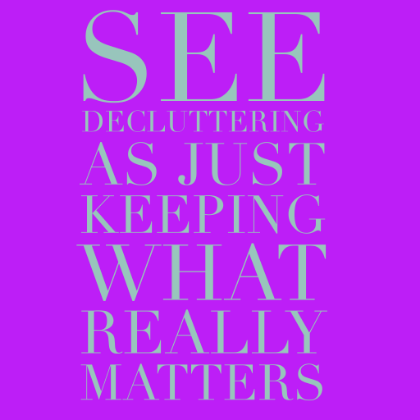 Keep what matters