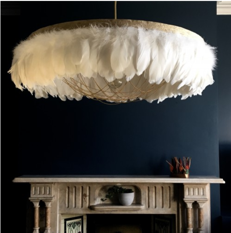 Out there interiors - Goose Feather Chandelier.jpg