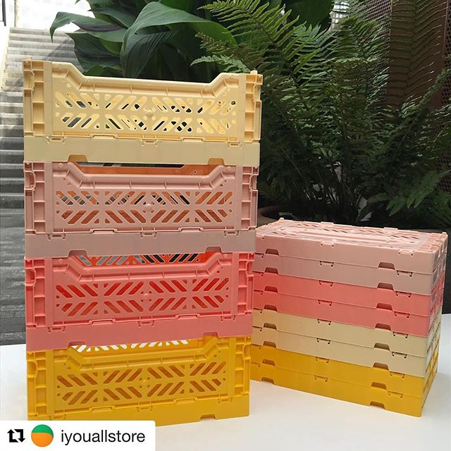 Loving these crates, great for kids toys 👍 _________________ #Repost @iyouallstore with @get_repost ・・・ Multifunctional, practical and a subtle way to add colour to you living and working spaces. @haydesign Colour Crates 🌼 Available in 3 sizes (S/M/L) and a range of colours 🌸 #hay #haydesign #colourcrates #colourcrate #interiorstyling #living #coaldropsyard