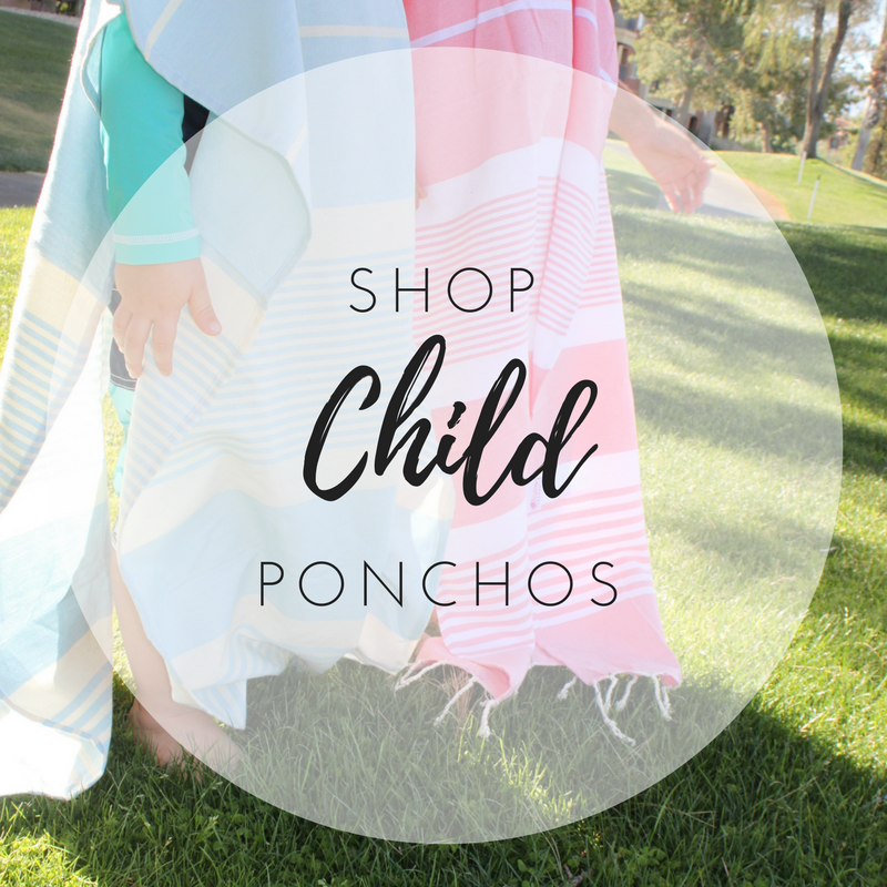 Child Ponchos Fouta Colors