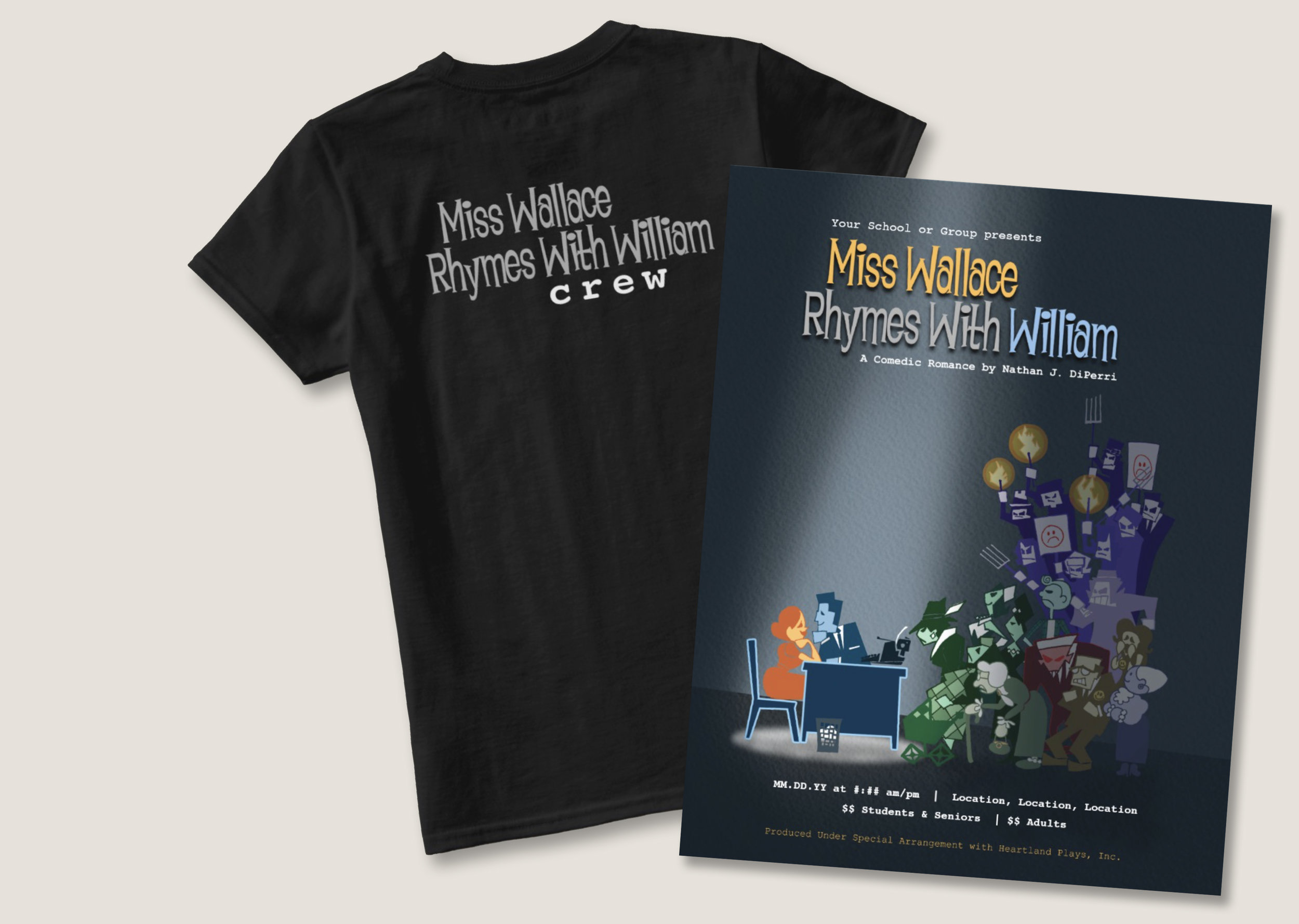 Production Gear - Advertise with customizable posters and represent with production crew t-shirts!
