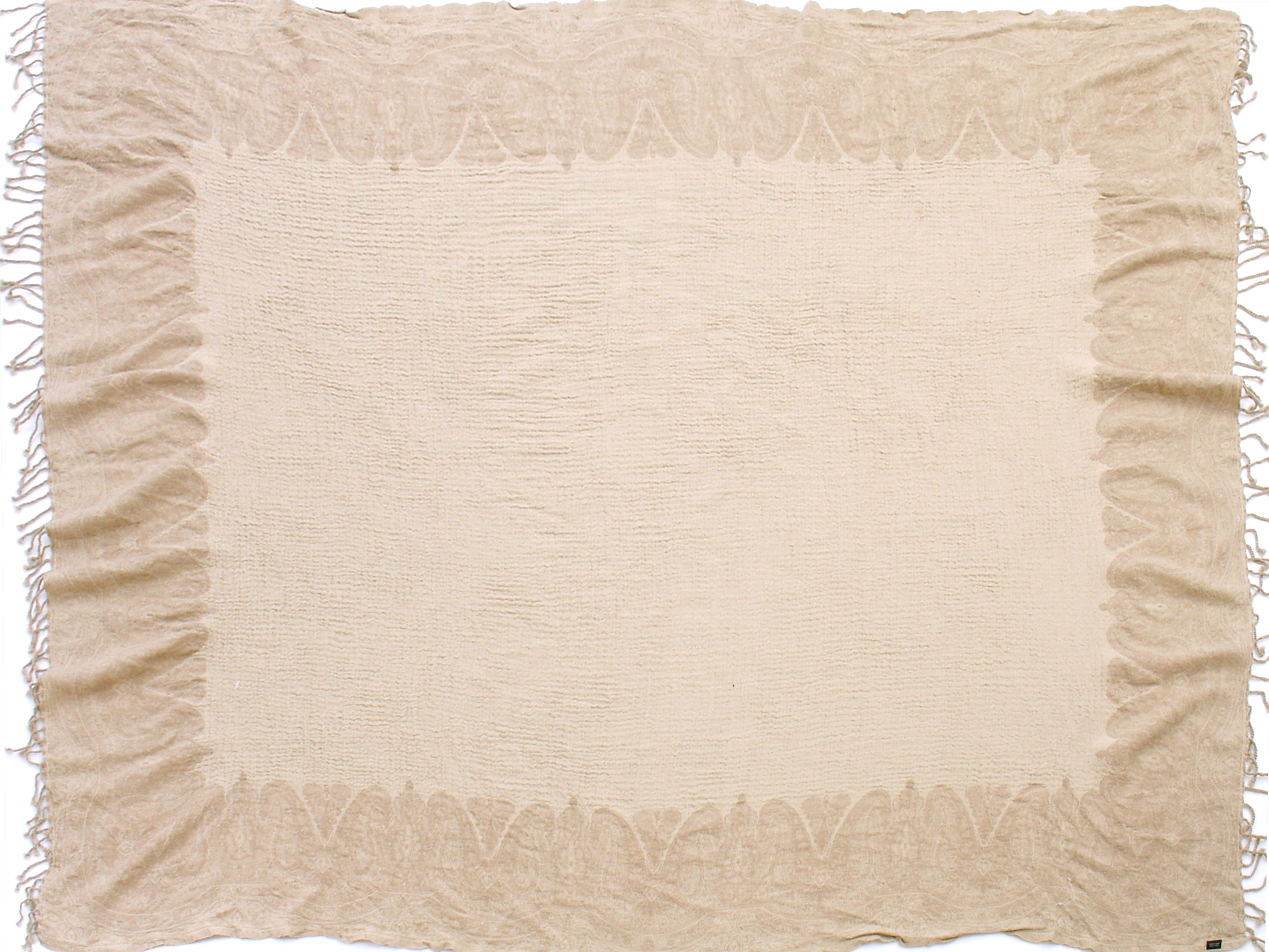 """Taupe/Ivory 60"""" x 80"""""""