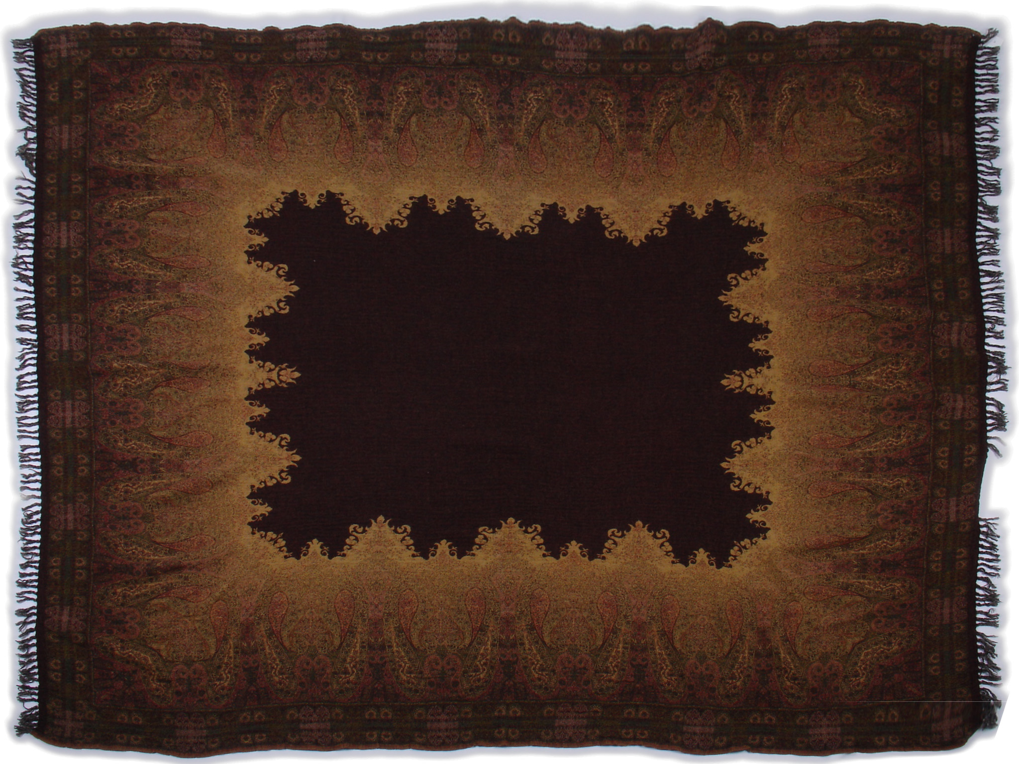 """Brown/Gold 60"""" x 80"""""""