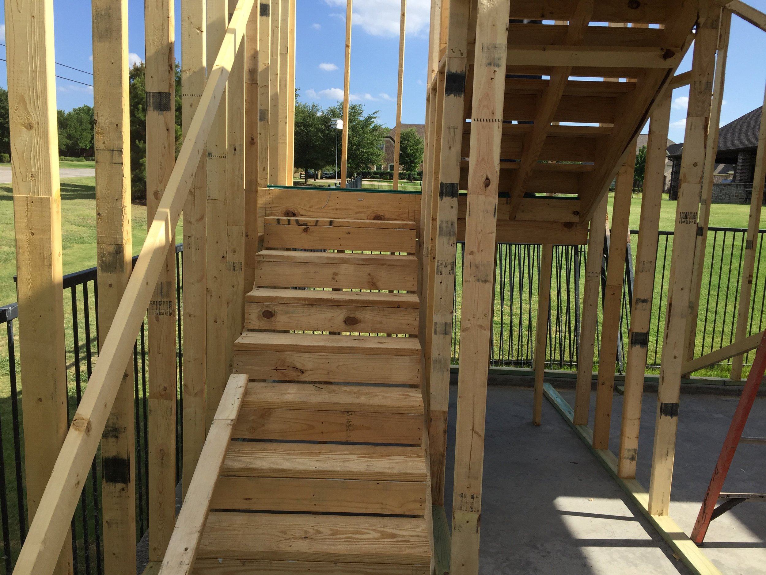 Prosper Detached Garage Framing Stairs