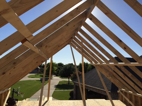 Prosper Detached Garage Framing 1