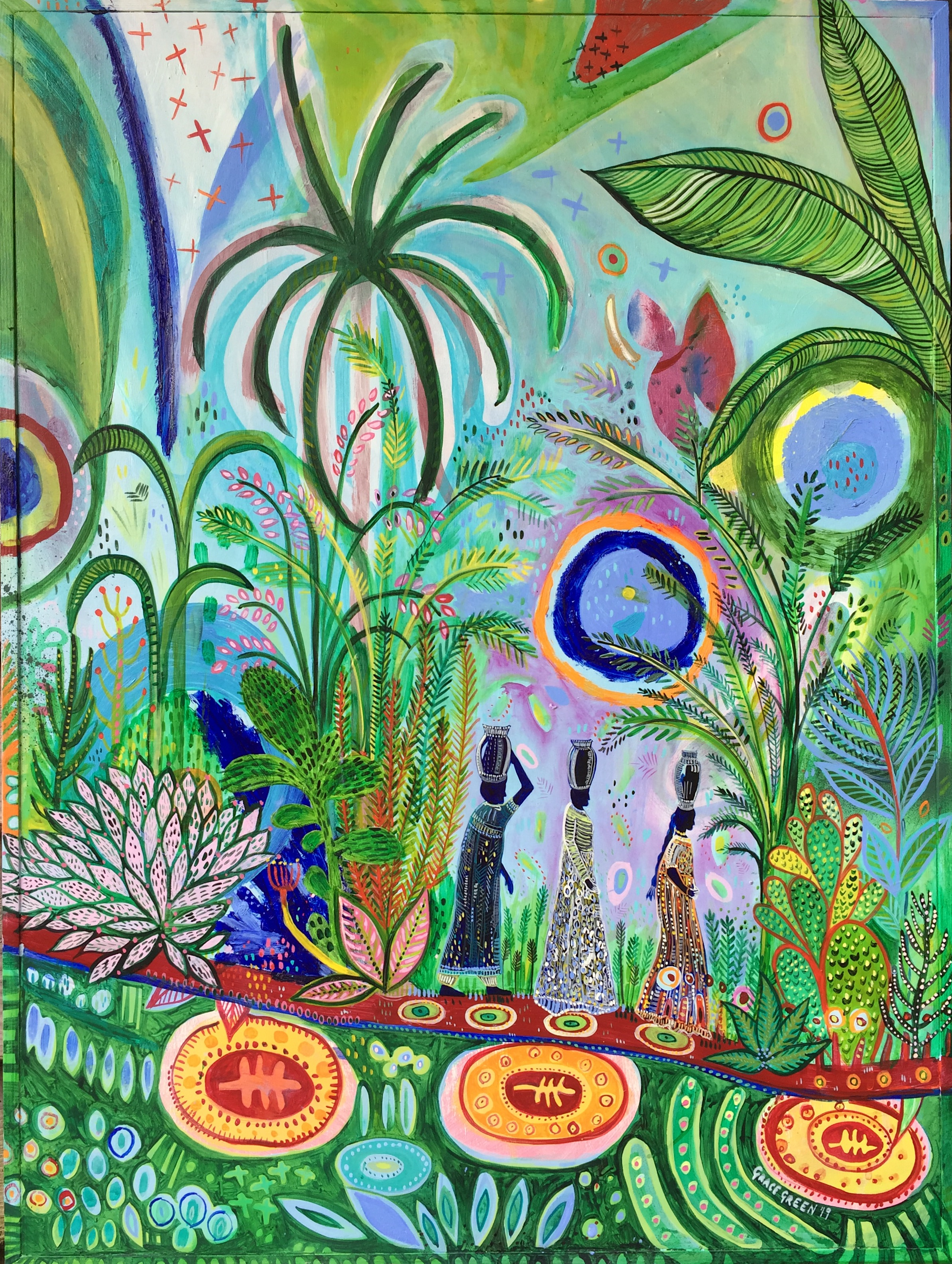 "1)""You are not Atlas carrying the world on your shoulder. It is good to remember that the planet is carrying you."" Vandana Shiva.   (60 x 81cms) Acrylic on wood panel.jpg"