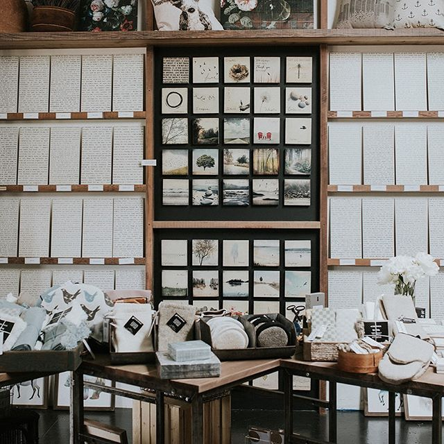 One thing we love about opening our own store is experimenting with product displays. Here is what we've done with our typewriter signs and art blocks. Photo by @myriamouterbridge #displayideas #handemade #storefun
