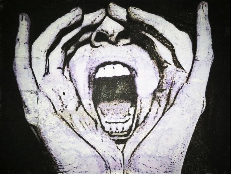 Scream, lithograph