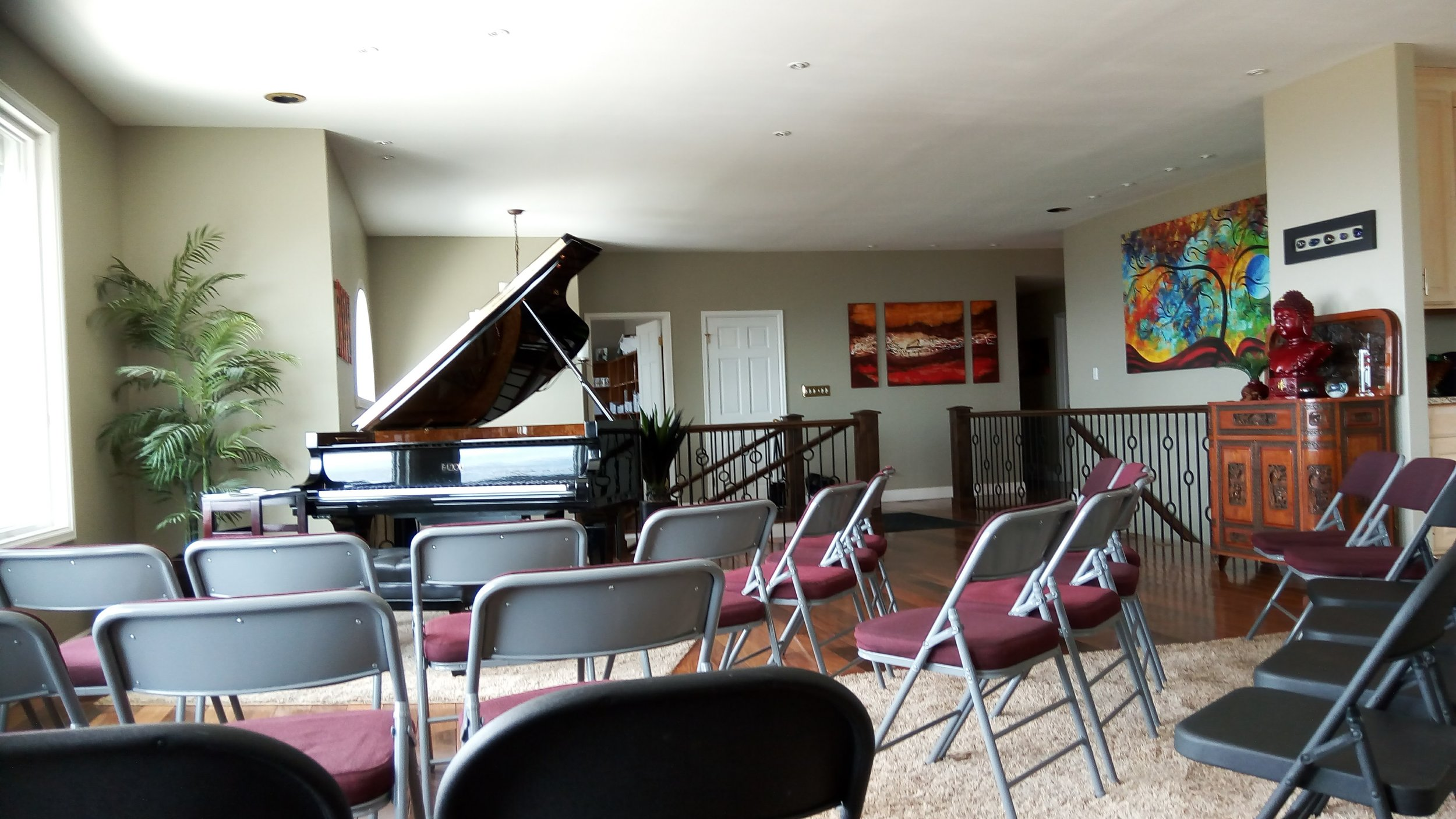 The Concert Space - beautiful Fazioli piano