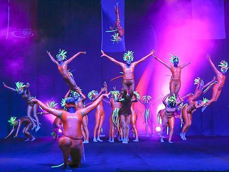 30.12.15 Green Spirits fliegen durch Arena