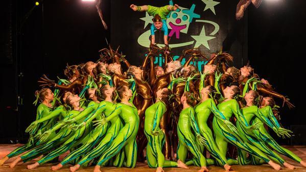 "11.06.19 Showakrobatinnen der ""Green Spirits"" feiern furiosen Heimsieg"