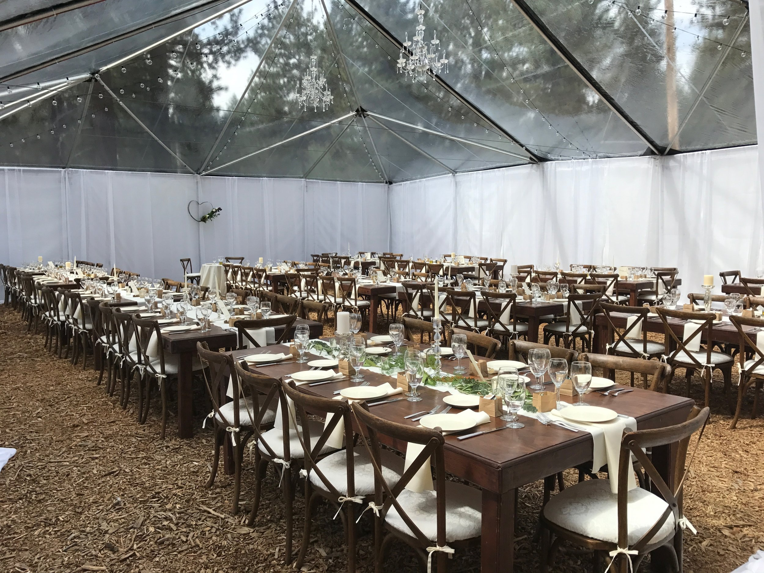 Tables, Chairs & Dishware provided by Camelot Party Rentals