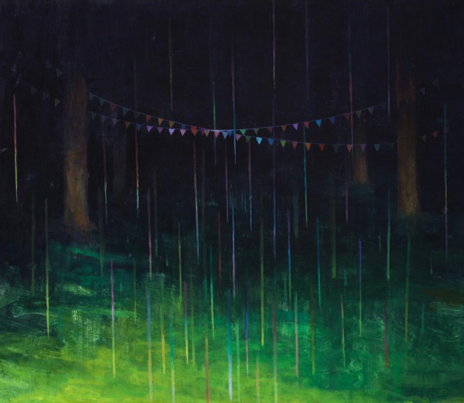 Eli McMullen Rainbow Rain acrylic on panel 24in. x 20in. NFS 2017.png
