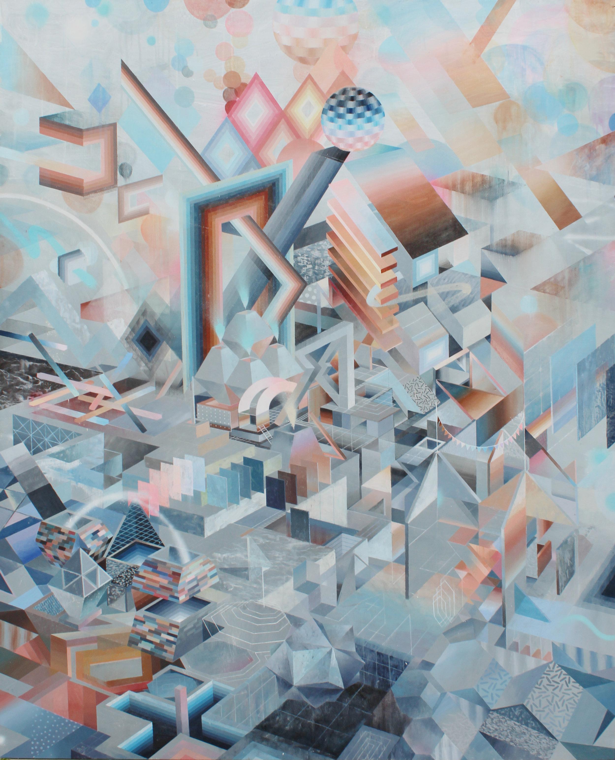 Eli McMullen Dimensional Drift acrylic and aerosol on panel 48_x60_ $3500 2015.jpg