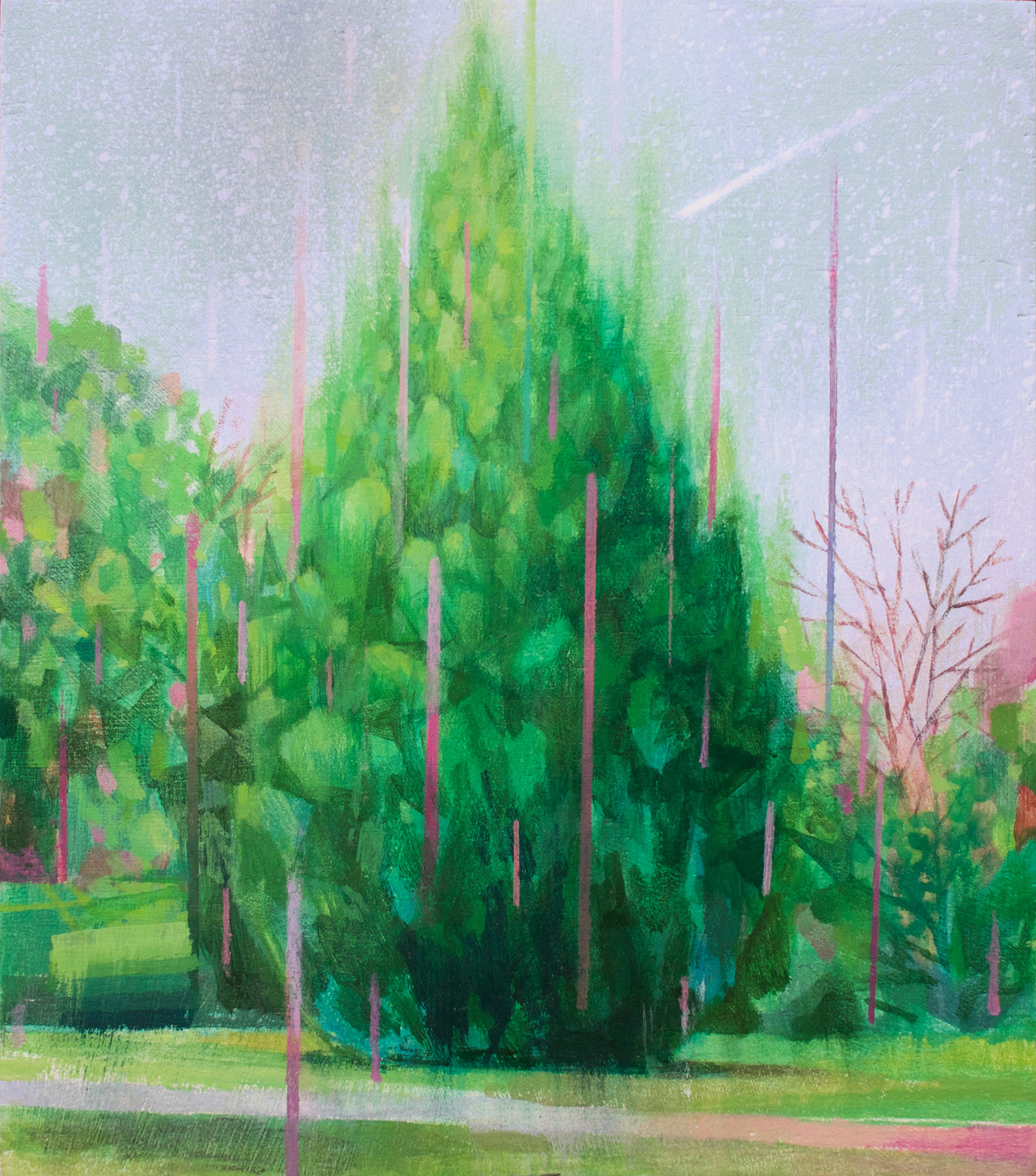 Eli McMullen Big Bush acrylic on panel 8 in. x 9 in. $600 2017.jpg