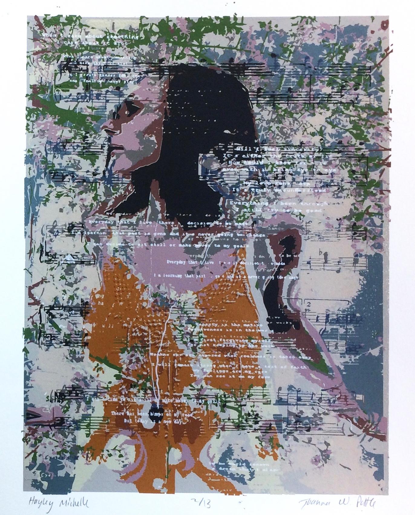 Joanna Pottle, Hayley Michelle, Screenprint, 14 x 11 in., $70 PROMO.jpg