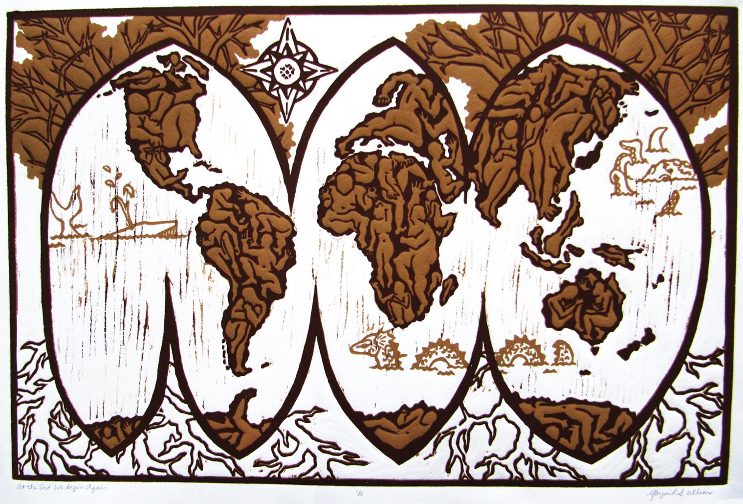Abigail Wilson, At The End We Begin Again, Reduction Wood Block Print, $350 PROMO.jpg