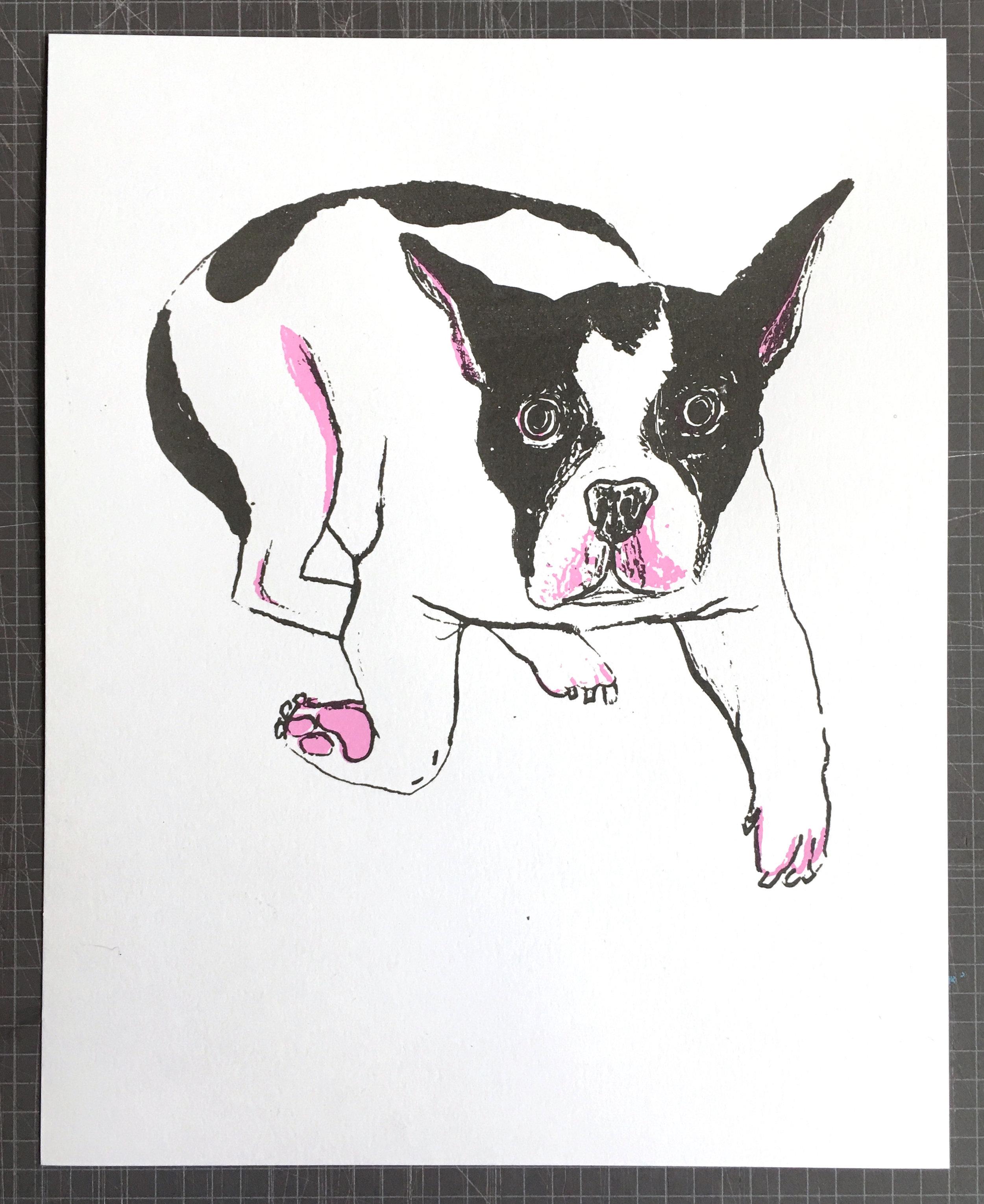 Brooke Inman, Rocko Dog, Screenprint, 8 x 10 in., $15 (1).jpg