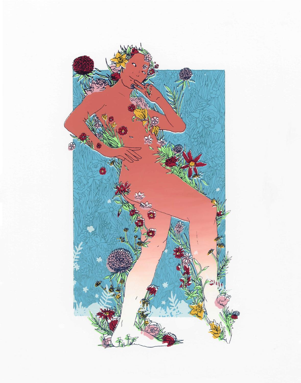 Kira Ratliff, Summer of Self Love, Screenprint, 11 x 14 in., $55 (1).png