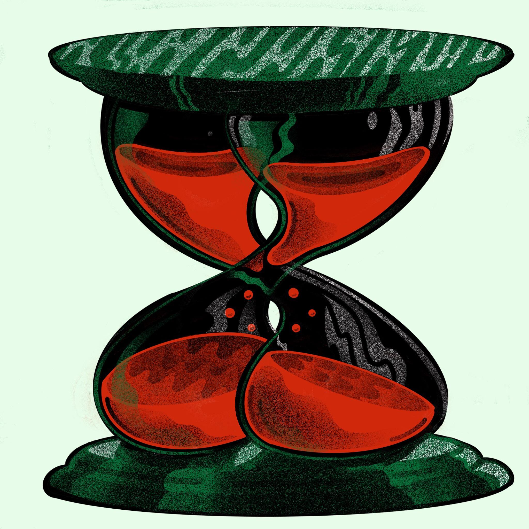 Erek Jones, Double Hour Glass, Screen Print, 16 x 16 in., $ (1).jpg