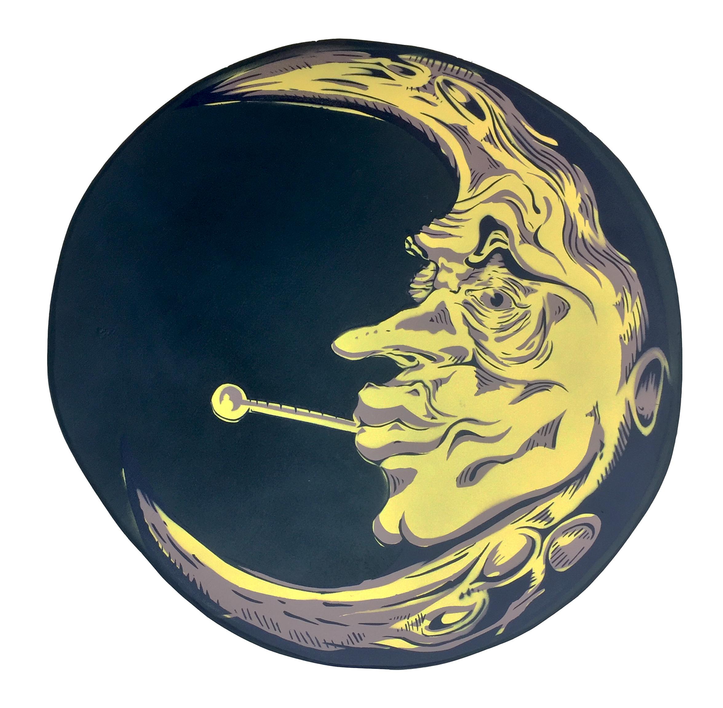 Ian Mondragon Fever Dreams, Stencil & Spray Paint on Panel, 26 x 26 in., $200 (1).jpg