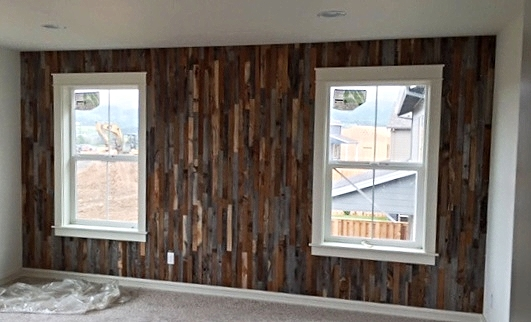 Gorgeous feature wall in the Master Bedroom.