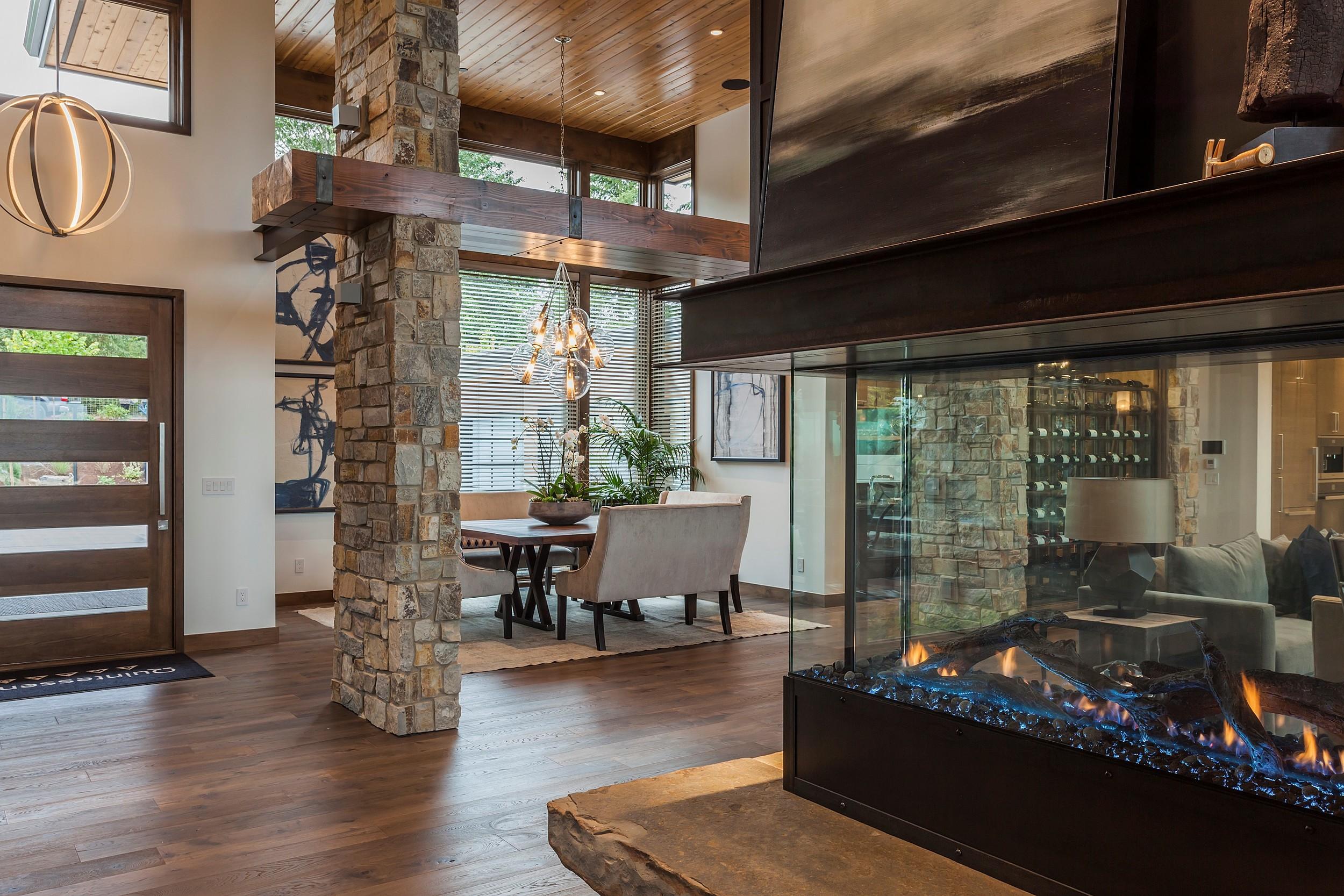 Fireplace & Dining