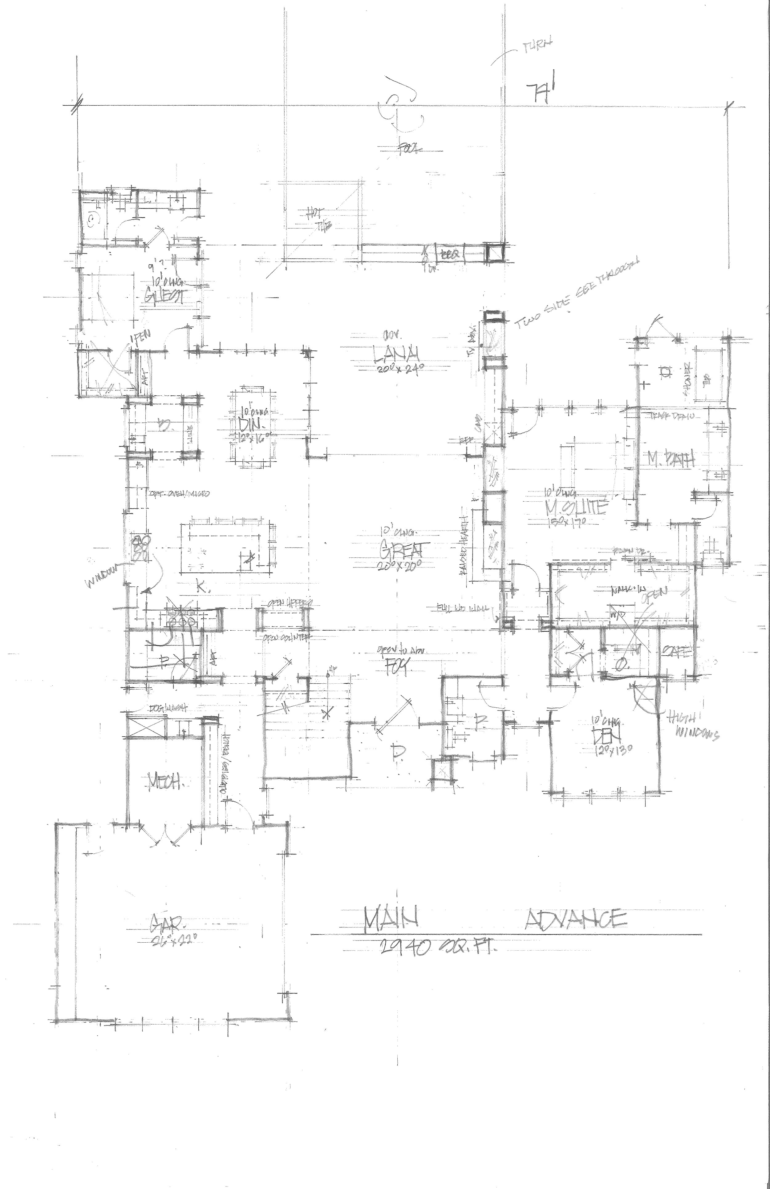 Main Floor Drawing