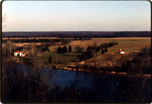 This is Jane's photograph of the Rappahannock River as seen from the Gouldin Plantation.