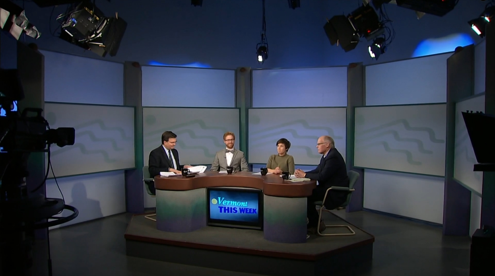 VERMONT THIS WEEK   Vermont this Week, in its 35th year, is a weekly   review of state news stories with a panel of journalists, hosted by Stewart Ledbetter.      Click the image to view