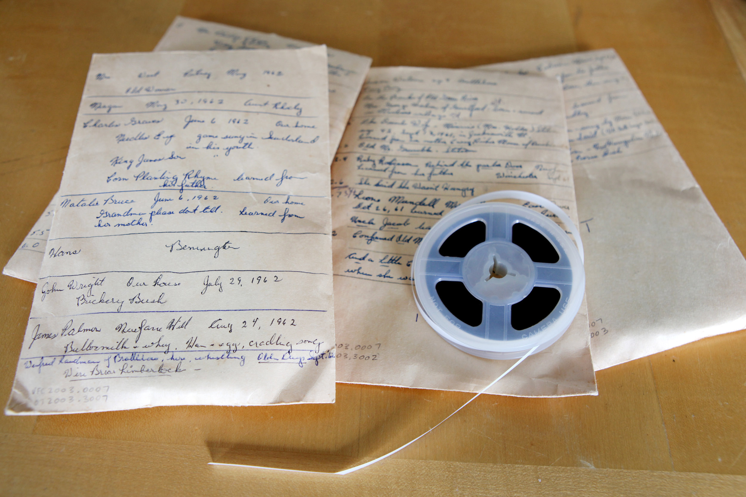 Field recordings from the Margaret MacArthur Collection, Vermont Folklife Center Archive.
