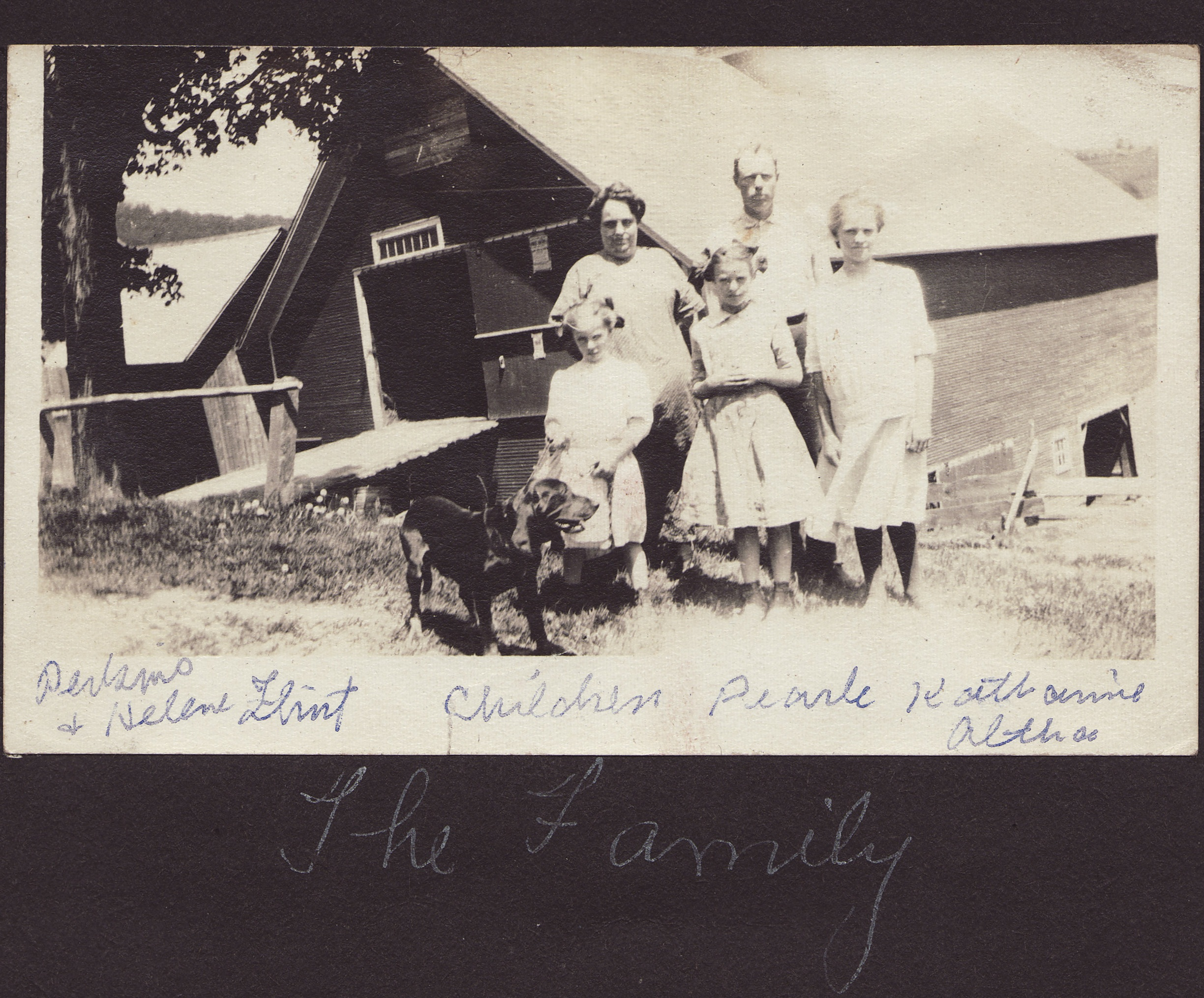 The Flint Family - from a photo album donated to the VFC