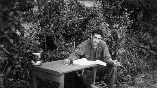 J.D. Salinger, author of  Catcher in the Rye  which many of us read in school, was an interpreter and interrogator with 4ID in WWII.