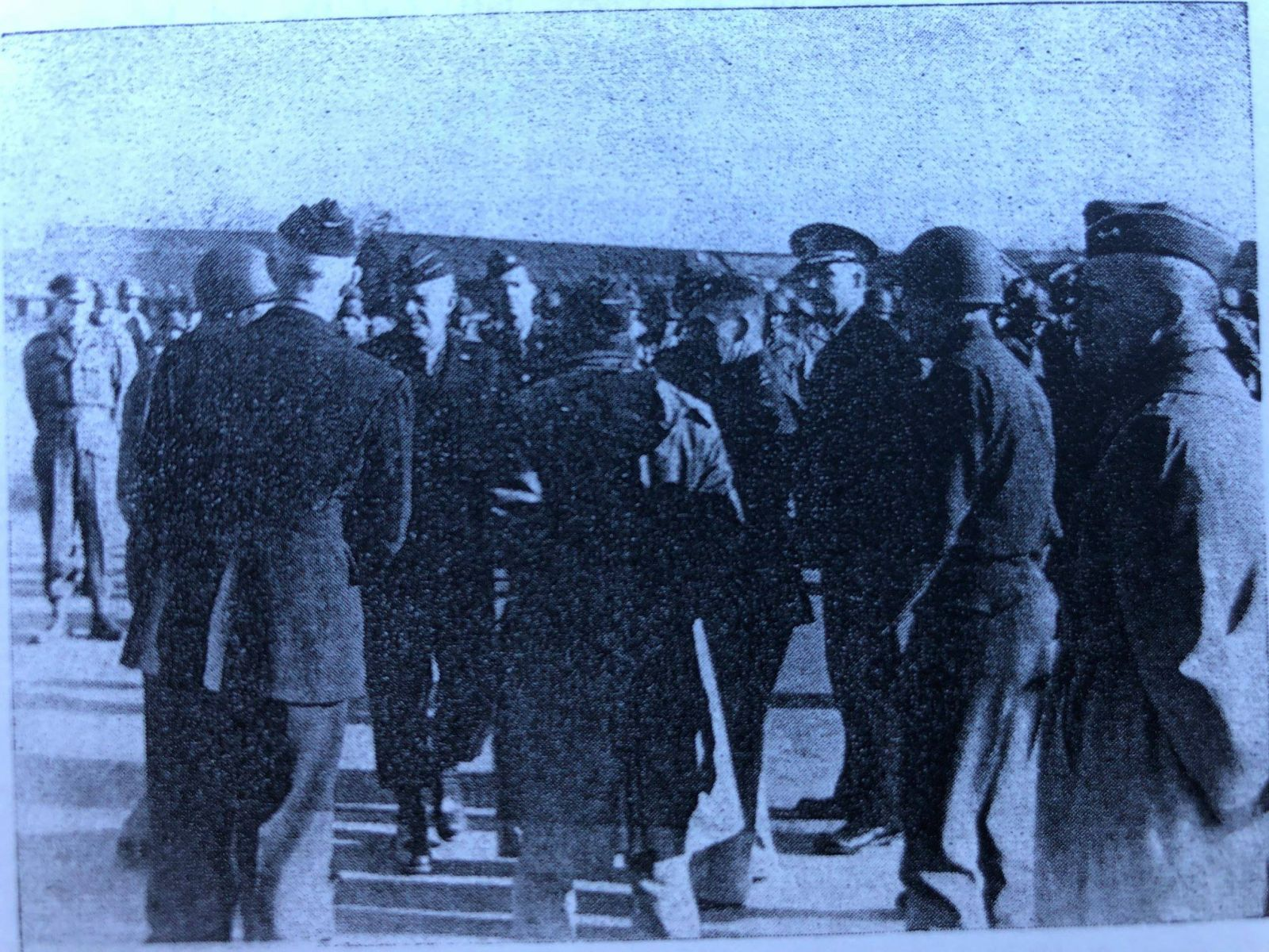General Eisenhower visiting the 4ID in March 1944.