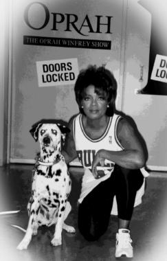 Hogan with Oprah Winfrey, 1996