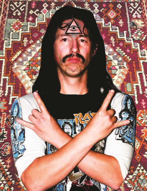 8) you scored this rug from a metalhead hash dealer outside a Dream Theater show.