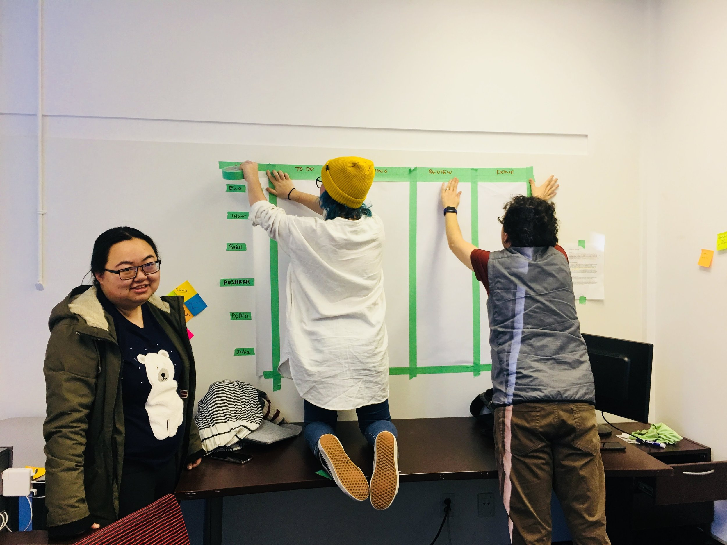Building it together - Building the board as a team was an important part of the process.