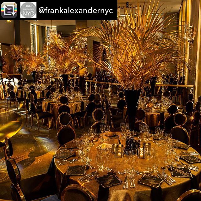 Repost from @frankalexandernyc Fully loaded and decked out in black and gold for this past weekend's 007 themed wedding with @sidekickevents at the @rainbowroomnyc
