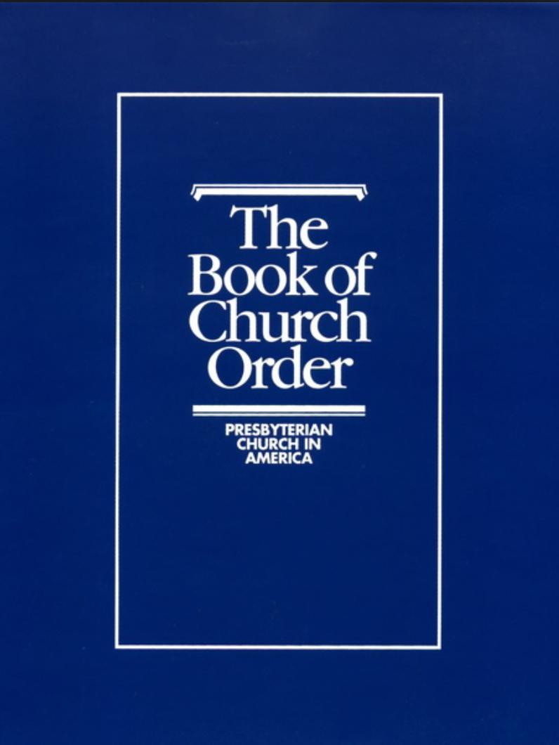BOOK OF CHURCH ORDER