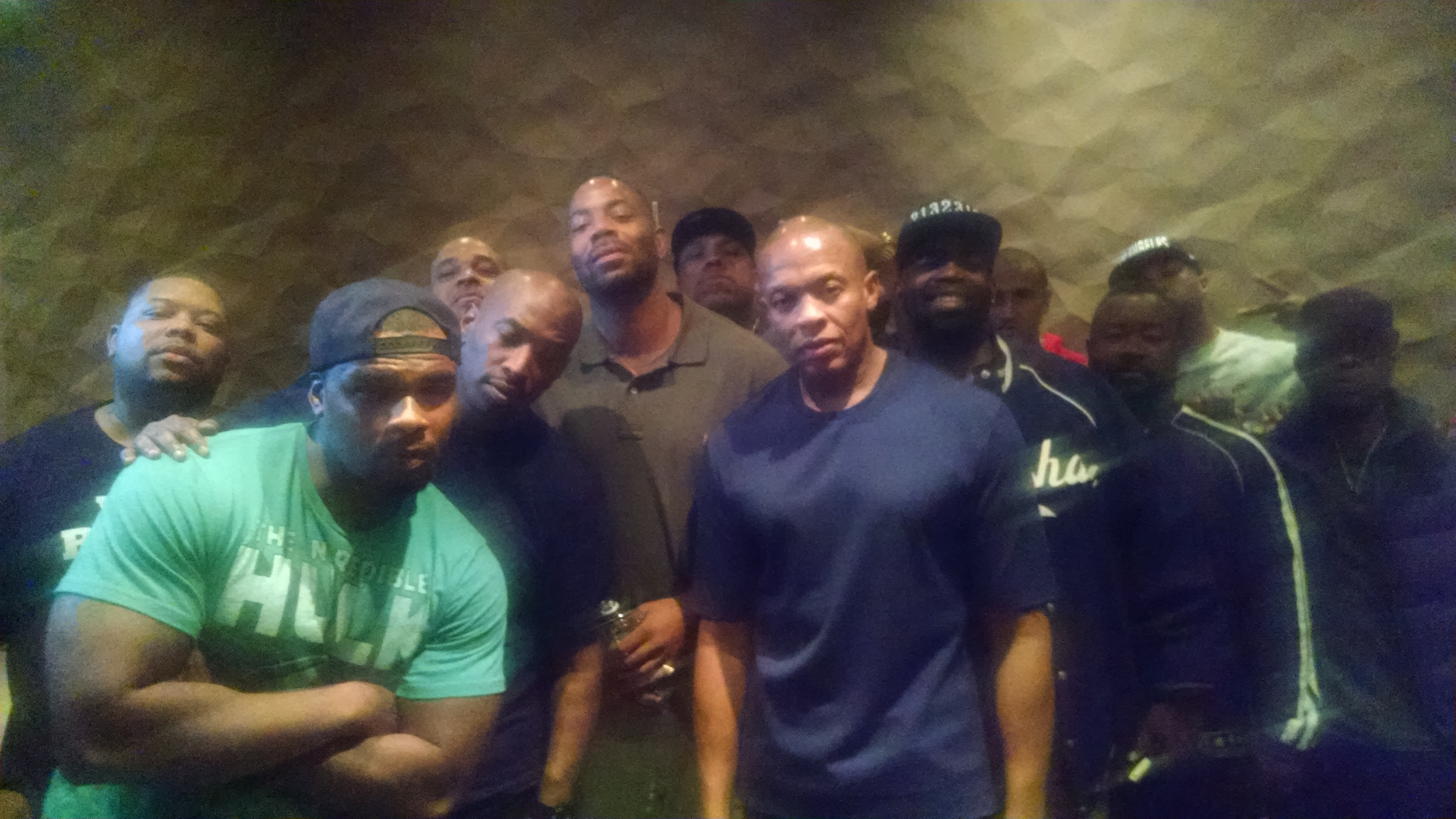 Phil Dr Dre and other producers at Record One Sept 2014.jpg