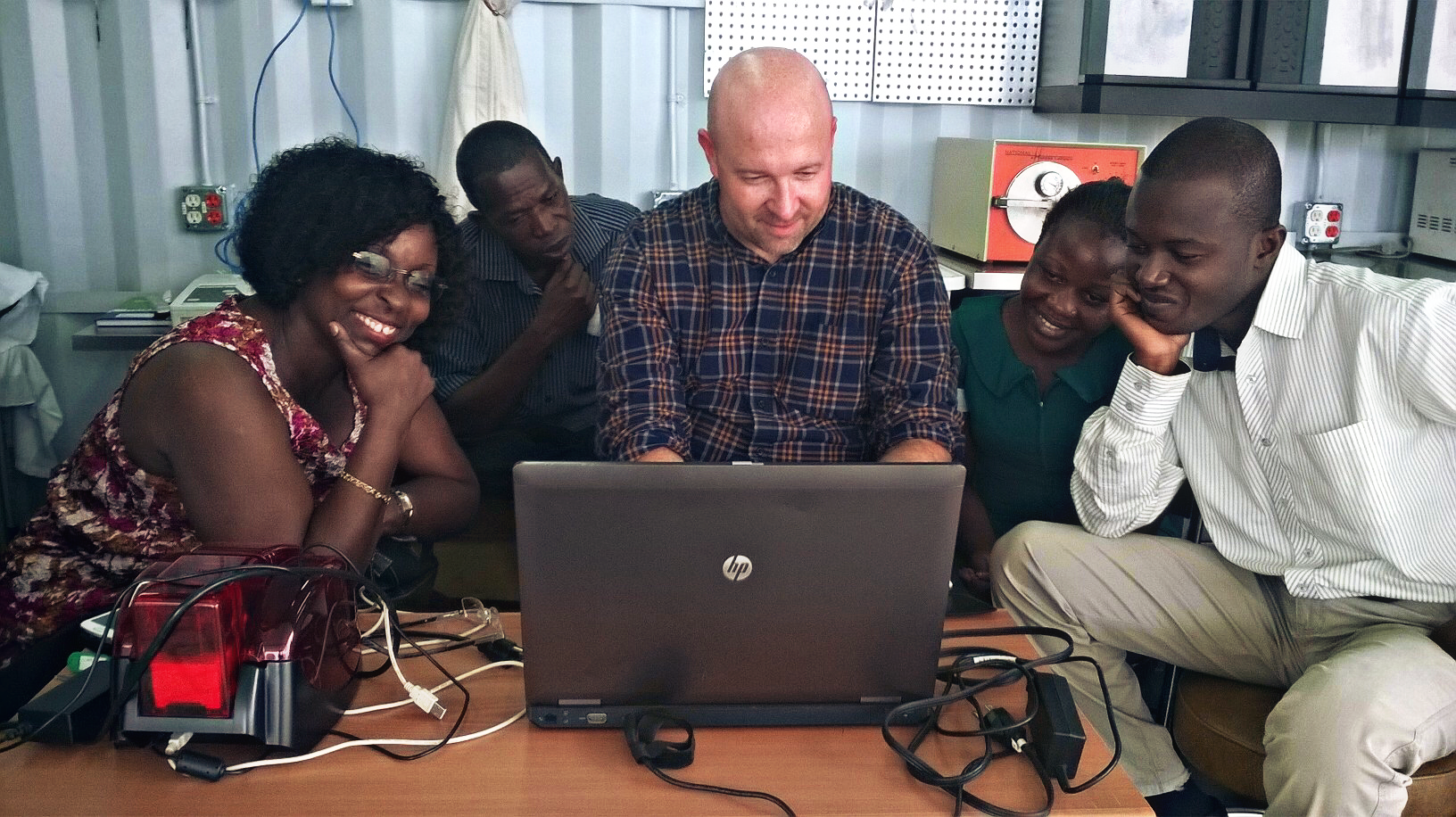 PMMI trains Ghanaian medical professionals on EMR software.