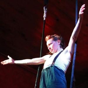Glenna on trapeze