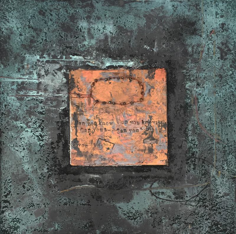 'Can You Know'   Encaustic Painting on mdf board
