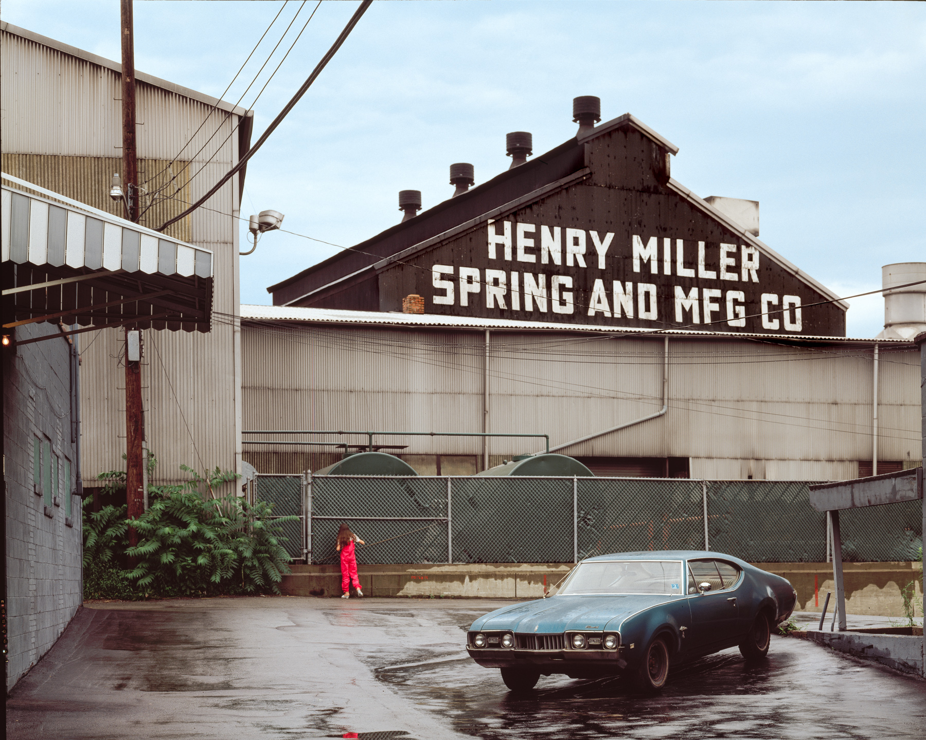 Young girl in search of Henry Miller, Sharpsburg, Pennsylvania, 1976